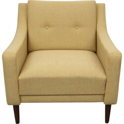 Armchair in yellow fabric - 1950s