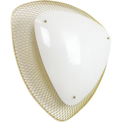 White wall lamp in plastic and metal - 1950s