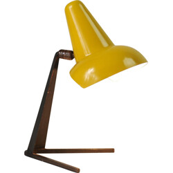 French table lamp in yellow metal and sheet steel - 1950s