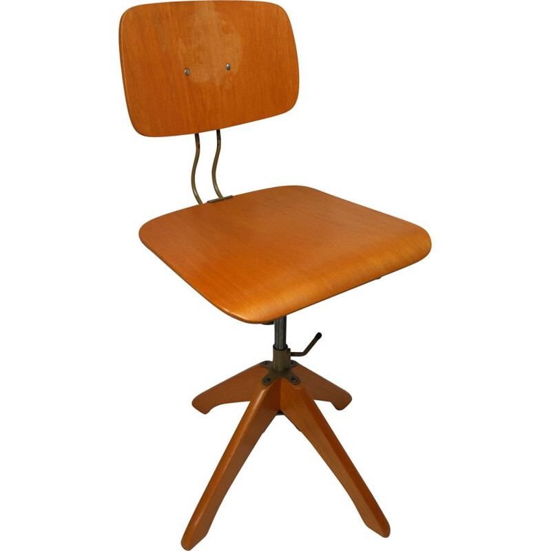 Vintage adjustable Polstergleich architect's chair by Margarete Klöber for Klöber GmbH, Germany 1950s