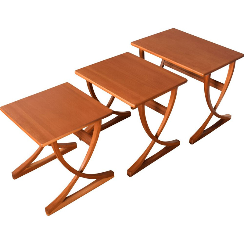 Vintage teak nesting tables by Nathan, 1960s