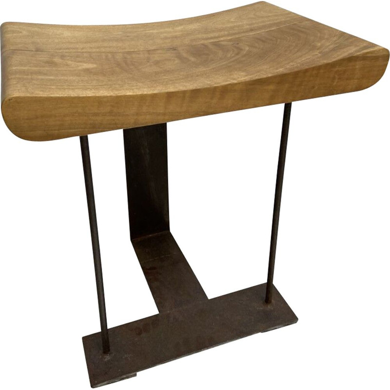 """Vintage SN3 """"T"""" stool by Pierre Chareau"""
