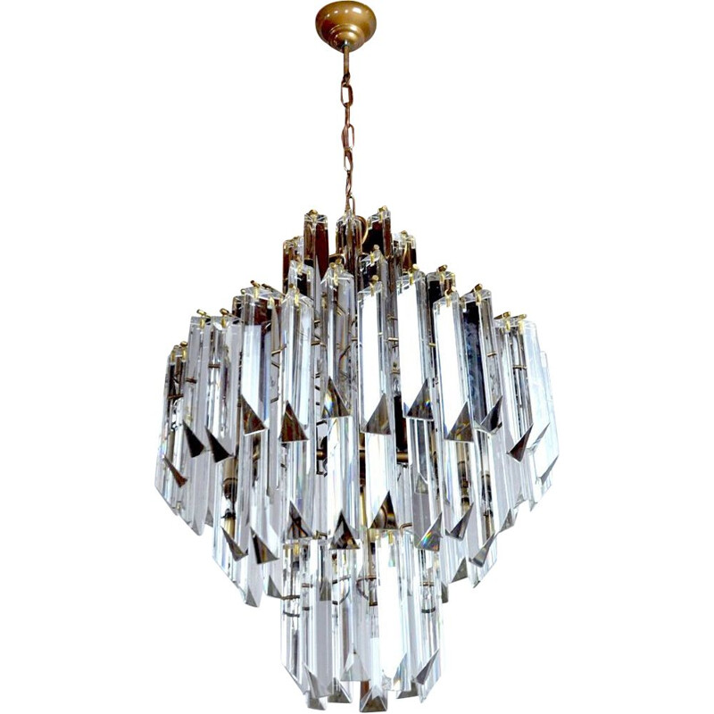 Vintage Venini 4-level chandelier for the Veronese House, Italy 1970