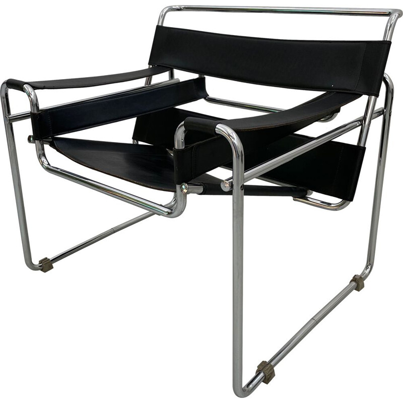 Vintage Wassily armchair by Marcel Breuer, 1970s