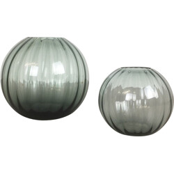 Set of two WMF vases in glass, Wihelm WAGENFELD - 1960s