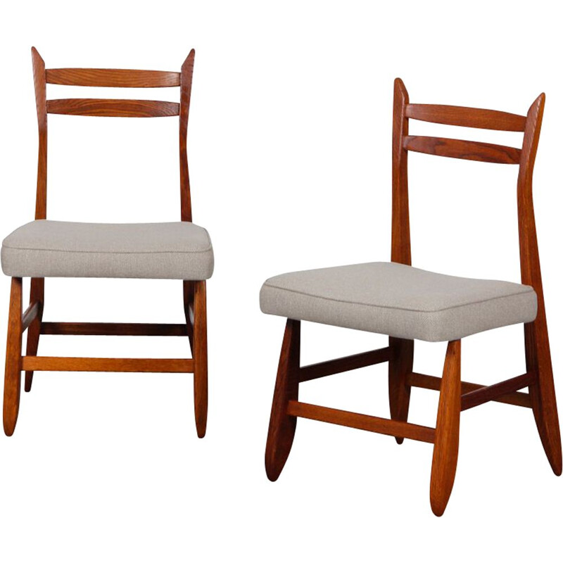 Pair of vintage chairs by Guillerme and Chambron for Votre Maison, 1960