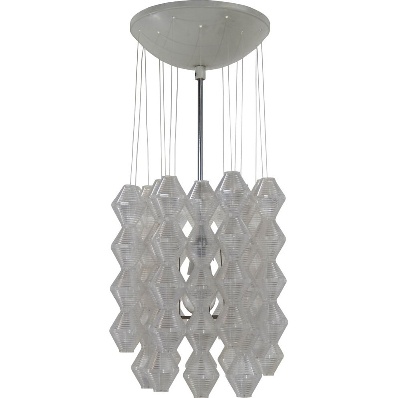 Space Age chandelier by Napako, 1970s