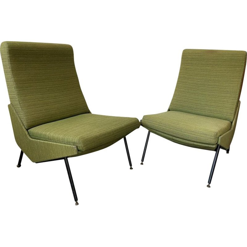 Pair of vintage TROIKA armchairs by Pierre Guariche for Airborne, 1960
