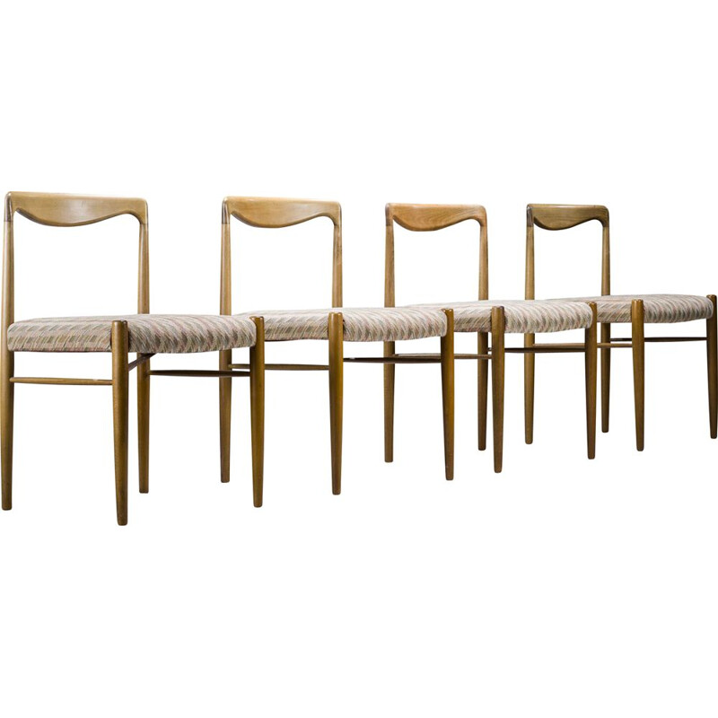 Set of 4 mid-century dining chairs