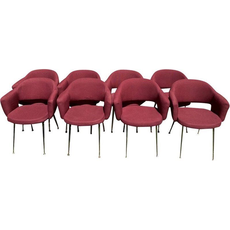 Set of 8 vintage conference armchairs by Eero SAARINEN for Knoll, 1957