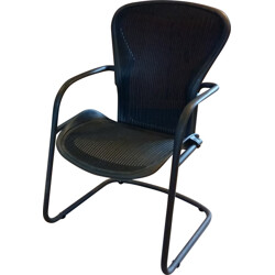 "Herman Miller ""Aeron"" desk chair in metal and net, Don CHADWICK & Bill STRUMPF - 2000s"