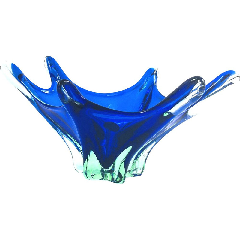 Vintage Murano glass Sommerso centerpiece, Italy 1960s