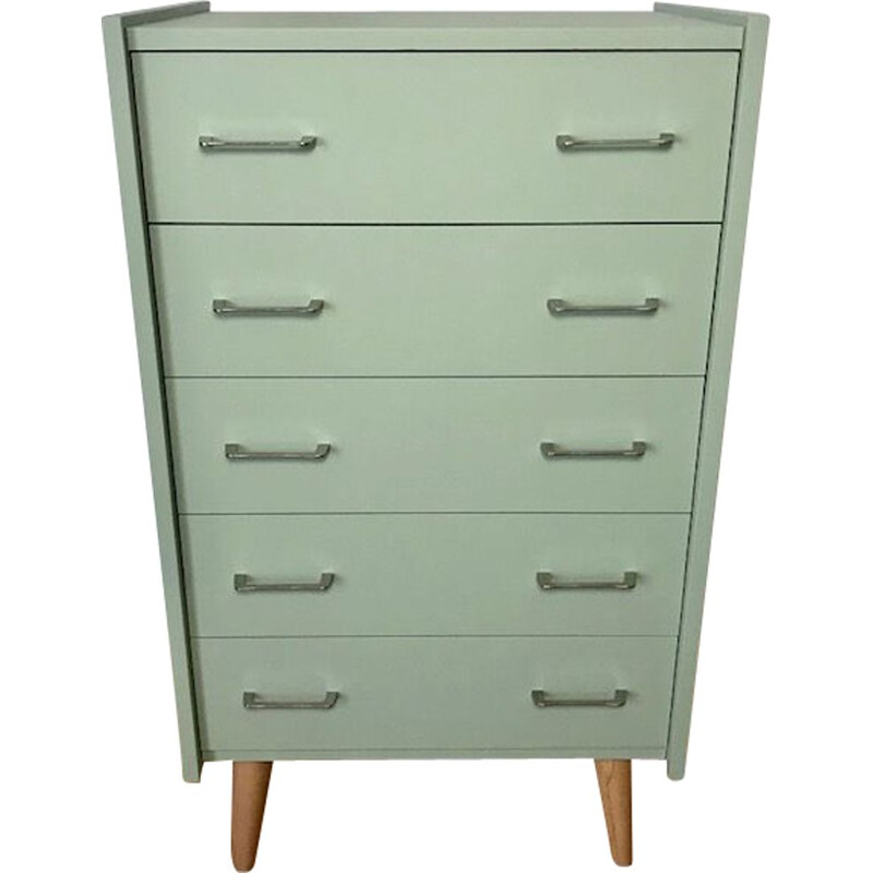 Vintage green chest of drawers