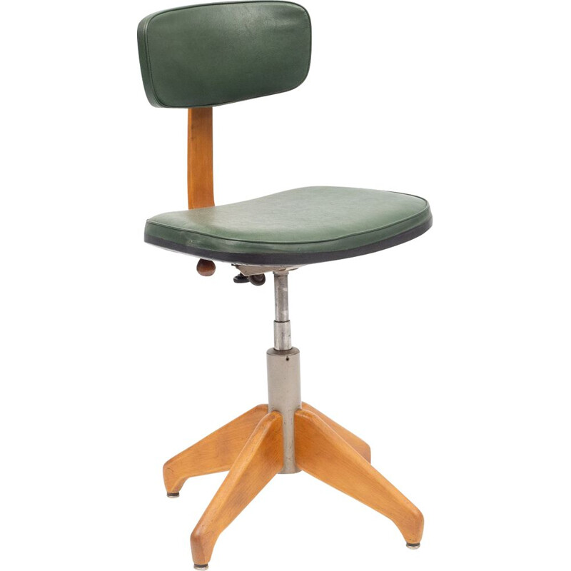 Vintage adjustable office chair for Stoll Giroflex, 1950s