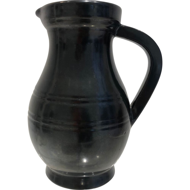 Vintage ceramic pitcher from Accolay, 1960