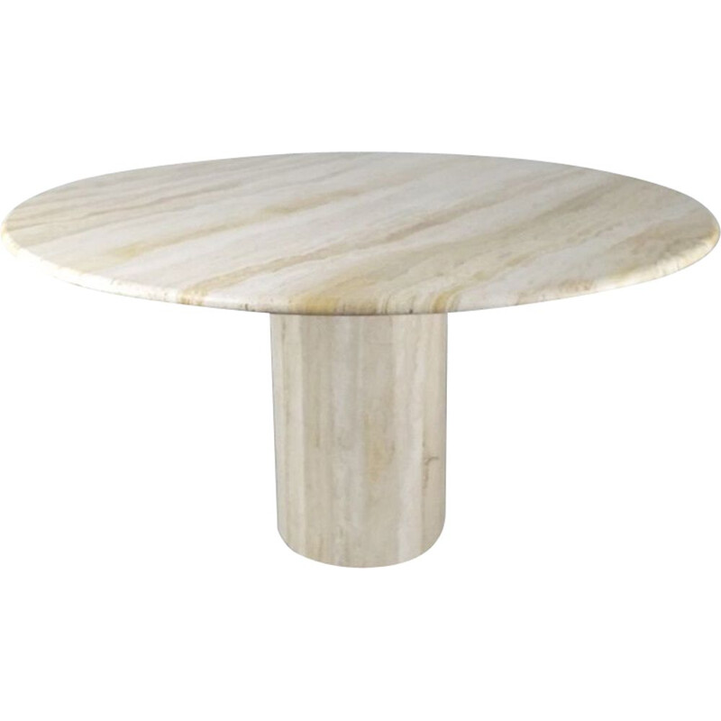 Vintage travertine table by Jean-Charles for Roche Bobois, 1970