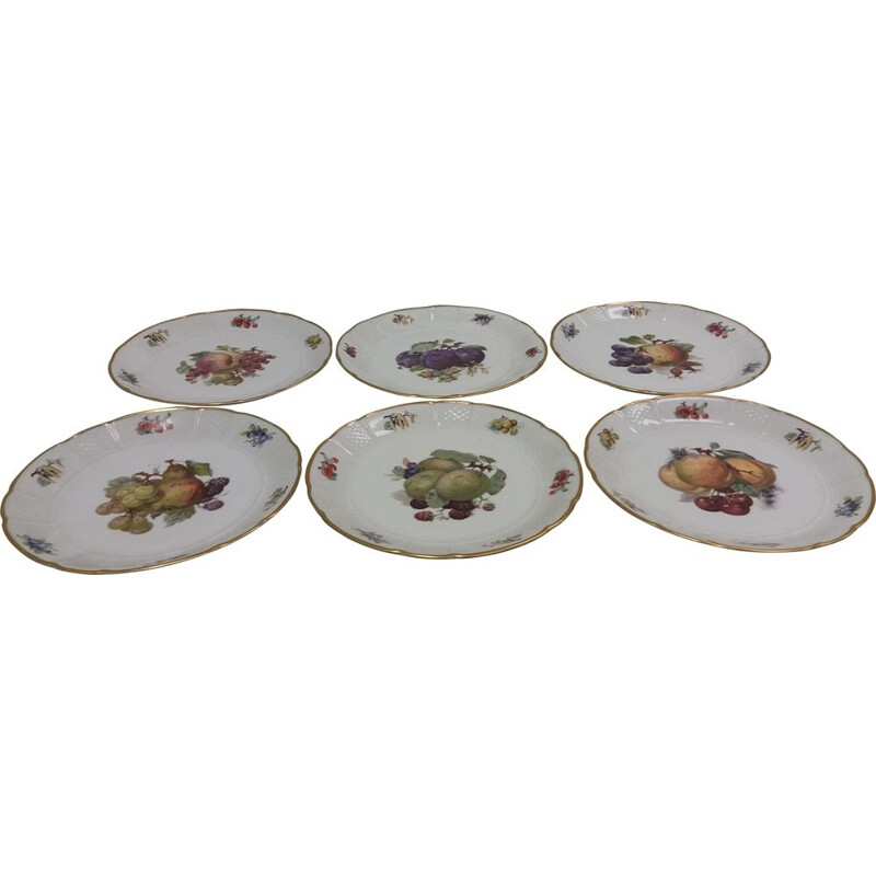 Set of 6 vintage pieces of porcelain plates by Rosenthal, Czechoslovakia
