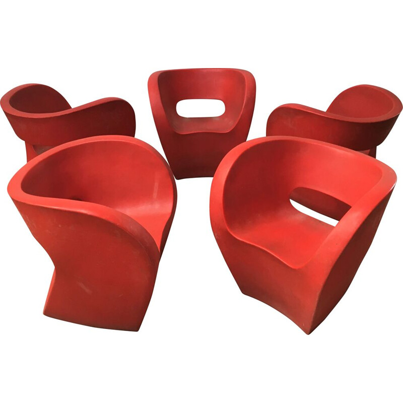 Set of 5 vintage Albert armchairs by Ron Arad Moroso, Italy 2000