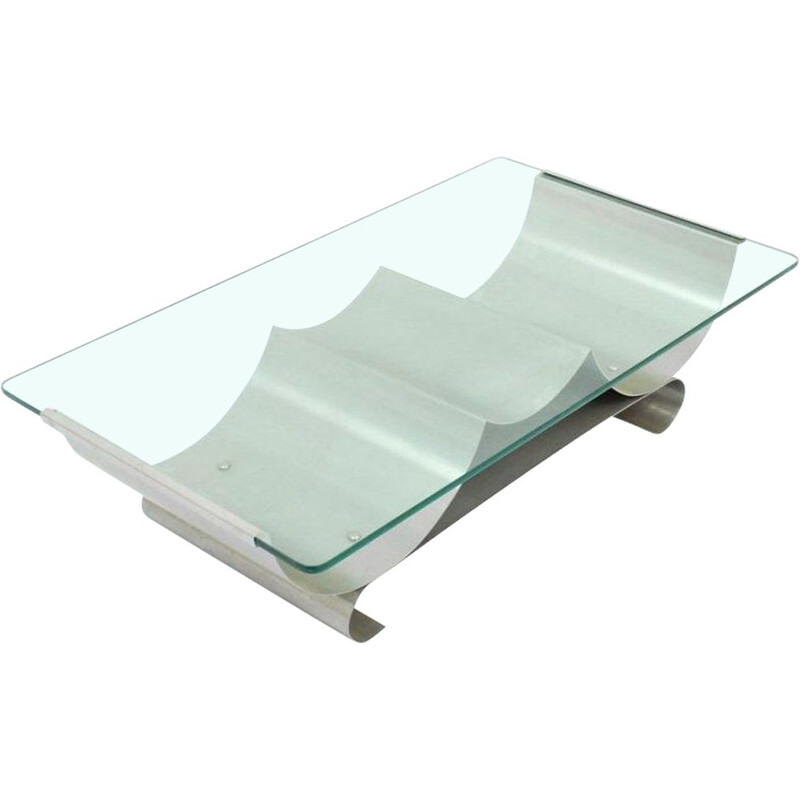 Mid century coffee table by Francois Monnet for Kappa, 1970s