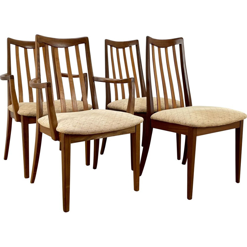 Set of 4 mid century armchairs by V.B Wilkins for G Plan, 1960s