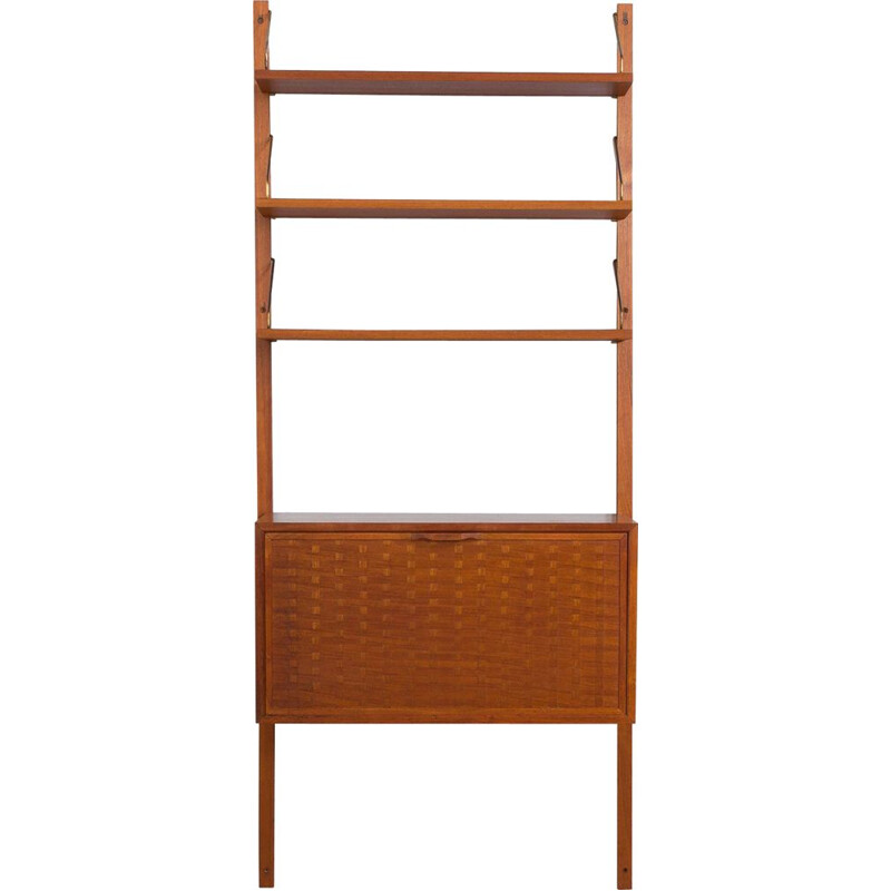 Vintage wall unit in teak with secretary by Poul Cadovius, Denmark 1960