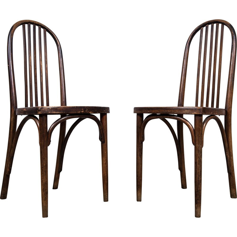 Pair of vintage bentwood chairs by Josef Hoffman for Thonet, 1930s