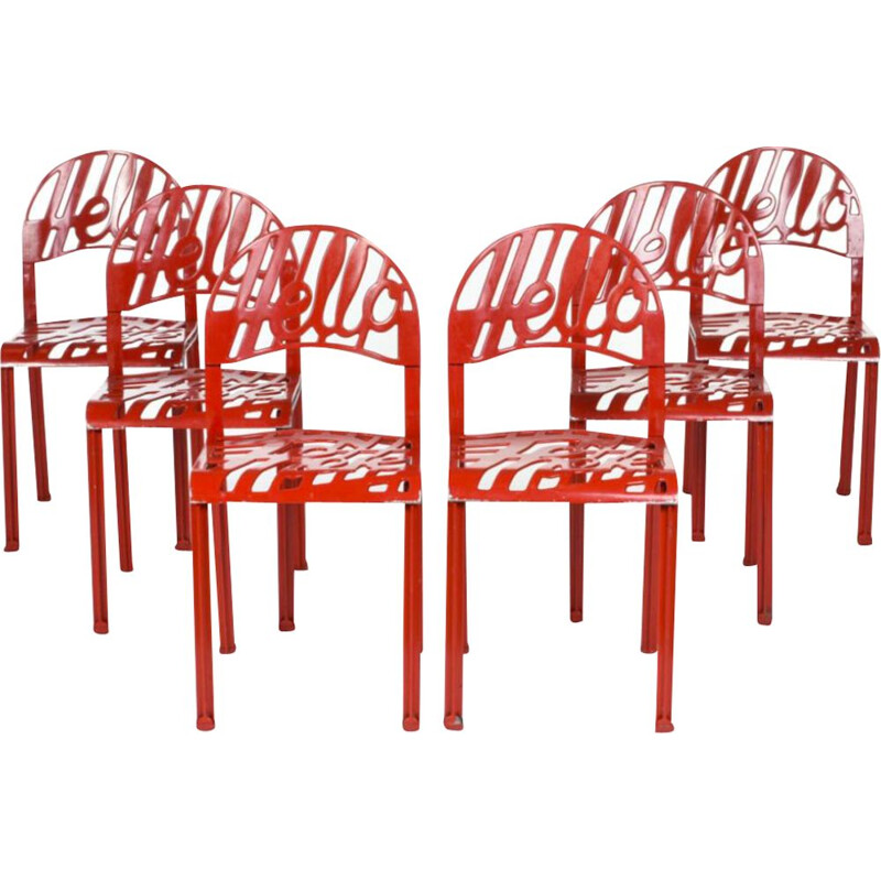 Set of 6 vintage chairs by Jeremy Harvey for Artifort
