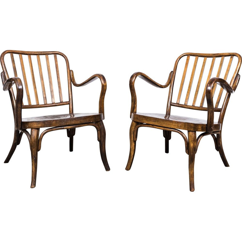 Pair of vintage armchairs by Josef Frank for Thonet Mundus, 1930