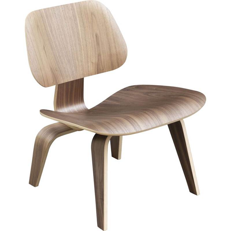 Vintage LCW walnut chair by Charles and Ray Eames for Herman Miller, 2000