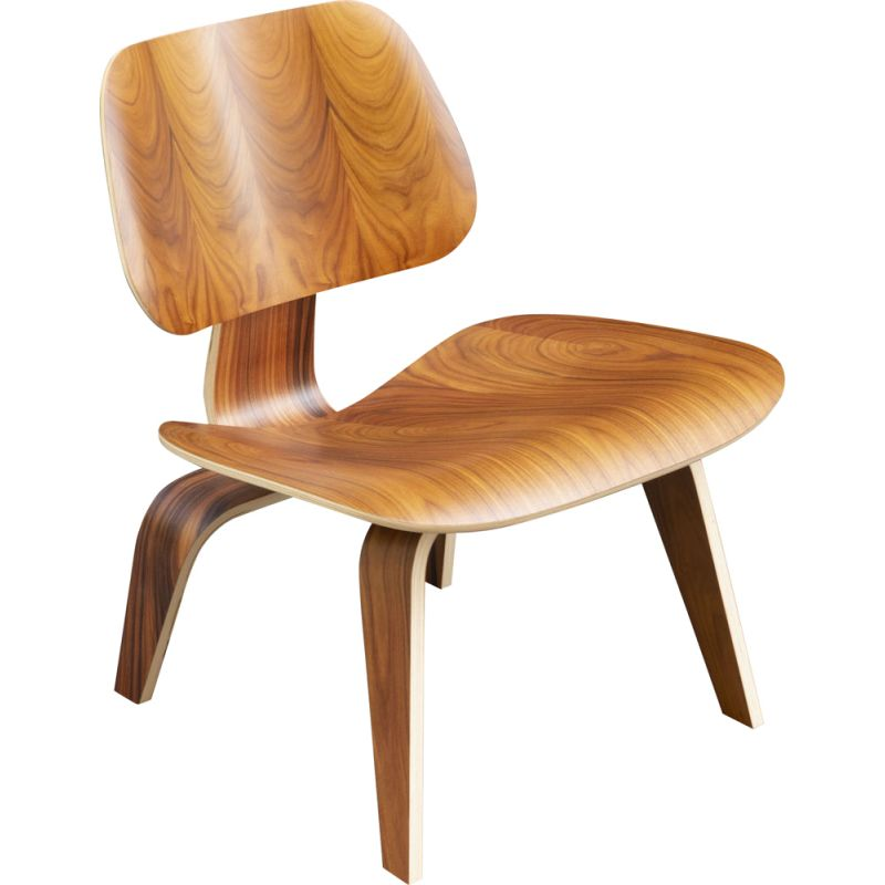 Vintage LCW rosewood chair by Charles and Ray Eames for Herman Miller, 2000