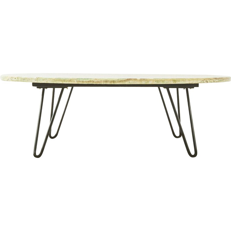 Mid century onyx-marble coffee table, Germany 1960s