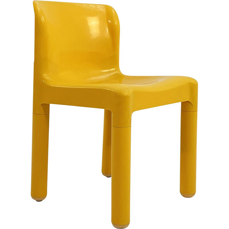 Vintage model 4875 yellow chair by Carlo Bartoli for Kartell, 1970s