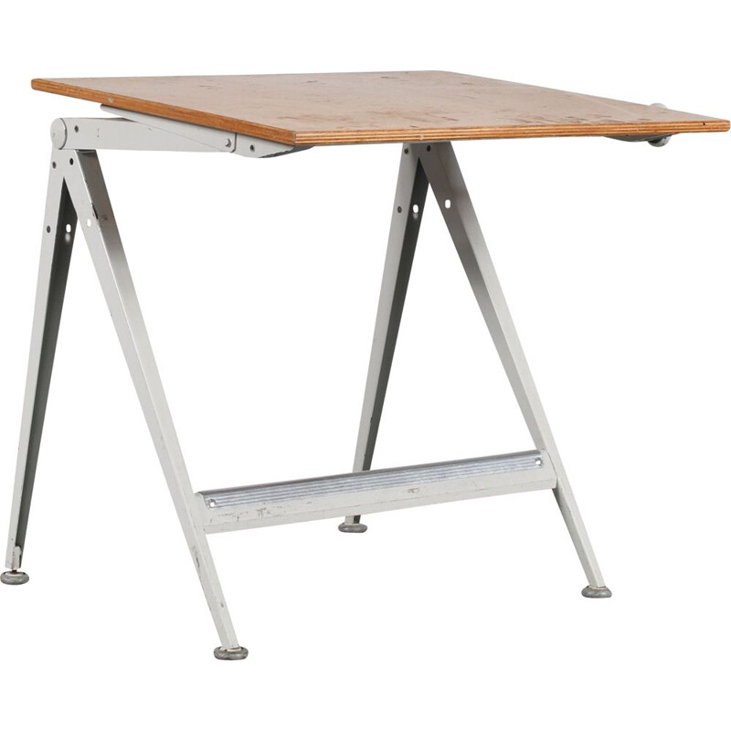Vintage drawing table by Wim Rietveld for Ahrend de Cirkel, Netherlands 1950s