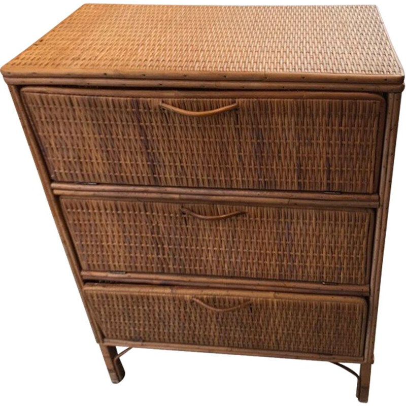 Vintage braided flapper chest of drawers