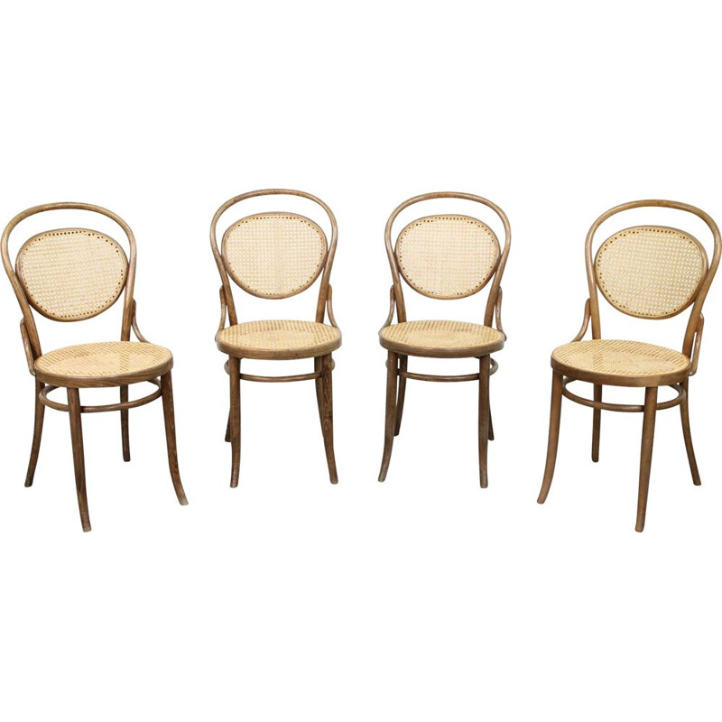 Set of 4 vintage no. 15 chairs by Thonet