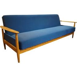 Daybed sofa in wood and fabirc - 1960s