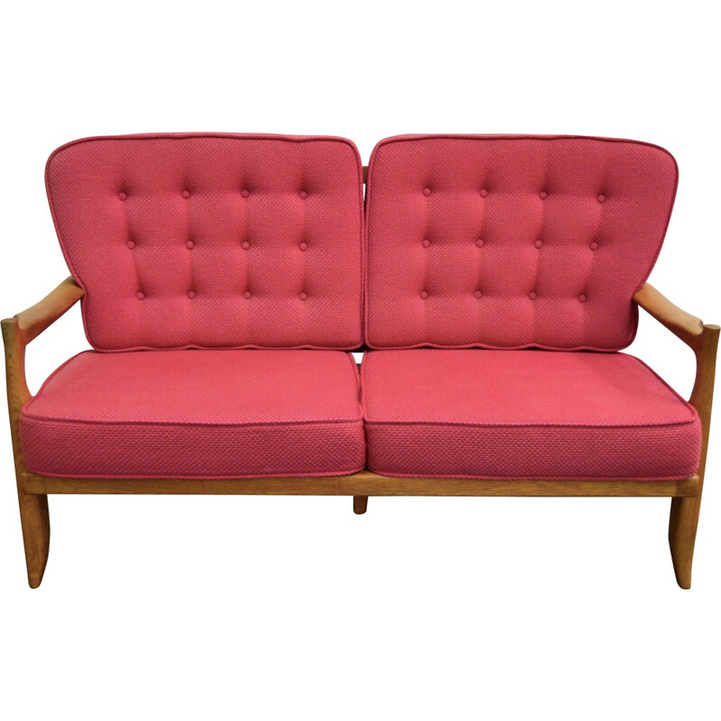 2 seats bench seat, GUILLERME & CHAMBRON - 1960s