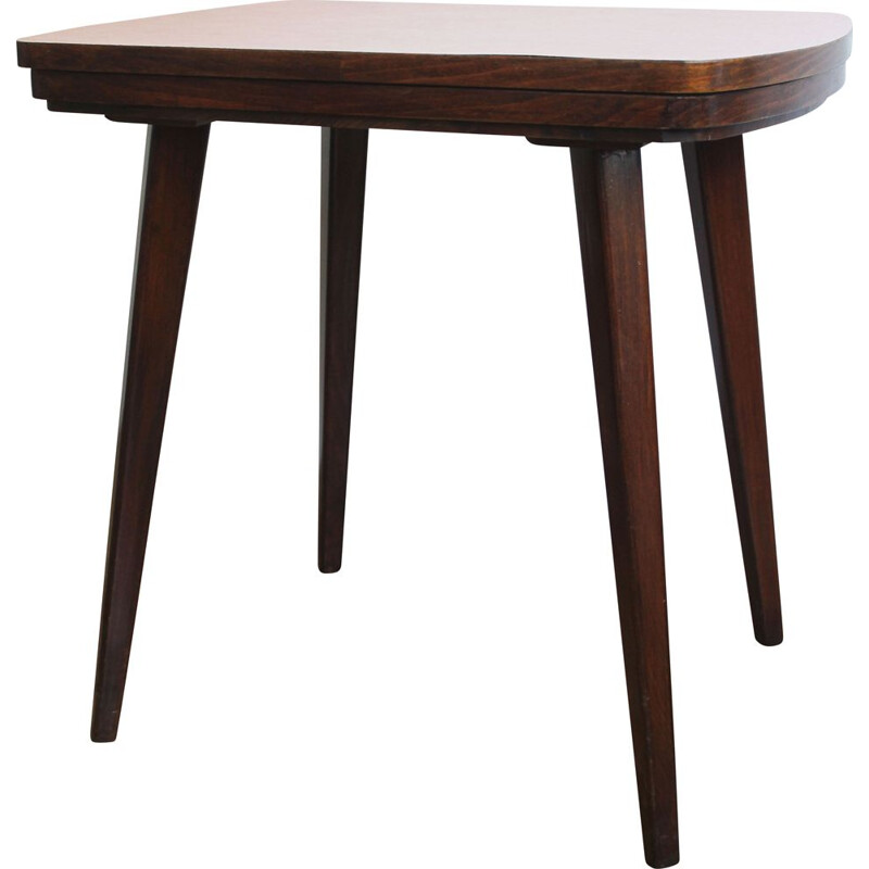 Mid-century side table with adjustable formica top, Czechoslovakia 1960s