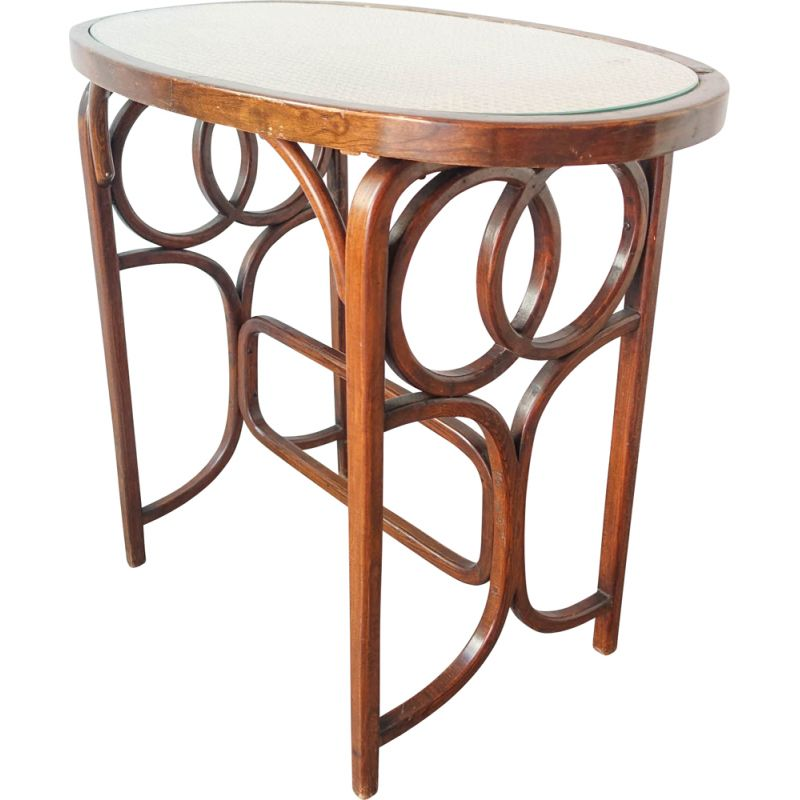 Vintage bistro table by Thonet, 1940s
