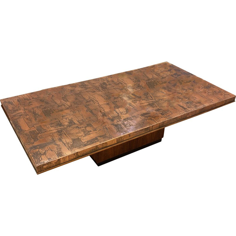 Vintage copper coffee table