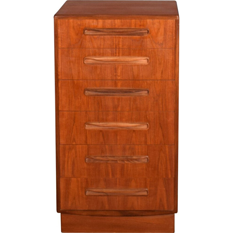 """Mid-century tall teak chest of drawers by Victor Wilkins for G Plan """"Fresco"""", 1960s"""