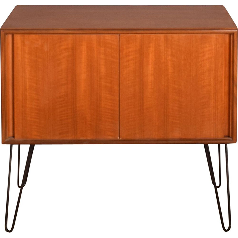 Mid-century teak sideboard or record cabinet hair pin legs for G Plan, 1960s