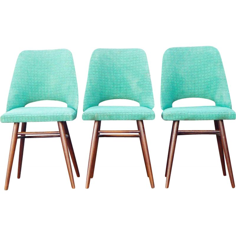 Set of 3 vintage dining chairs, CZ 1960s