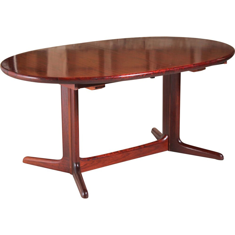 Danish mid century oval rosewood dining table, 1970s