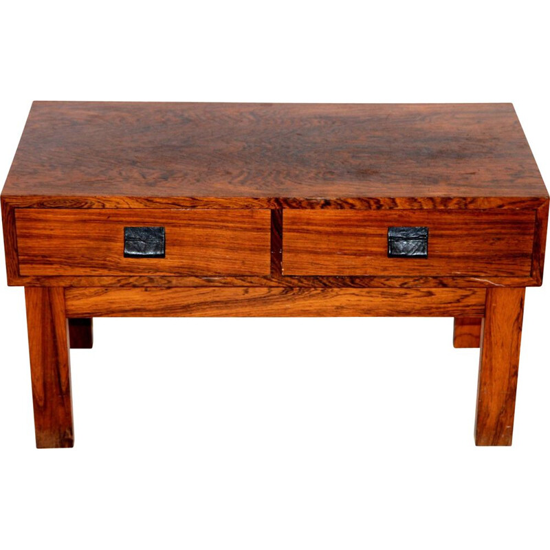 Vintage rosewood console by Glas & Trä, Sweden 1960