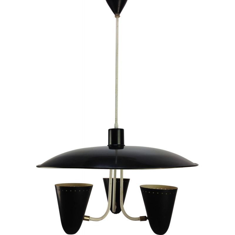 Mid century pendant lamp by H. Th. J. A. Busquet for Hala, Holland 1950s