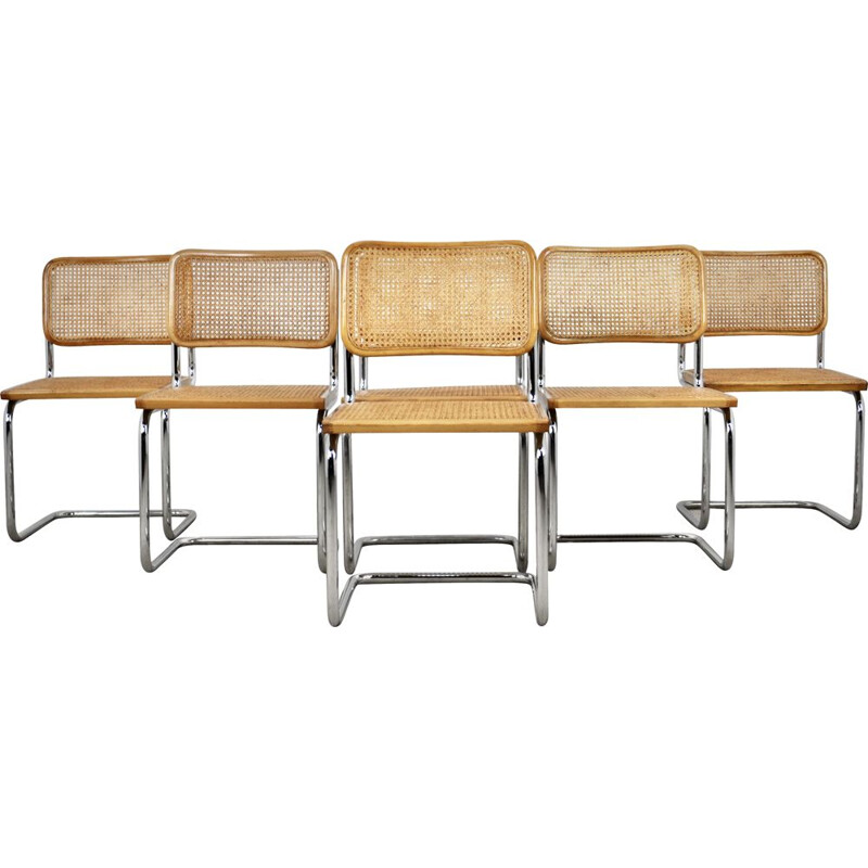 Set of 6 vintage chairs by Marcel Breuer