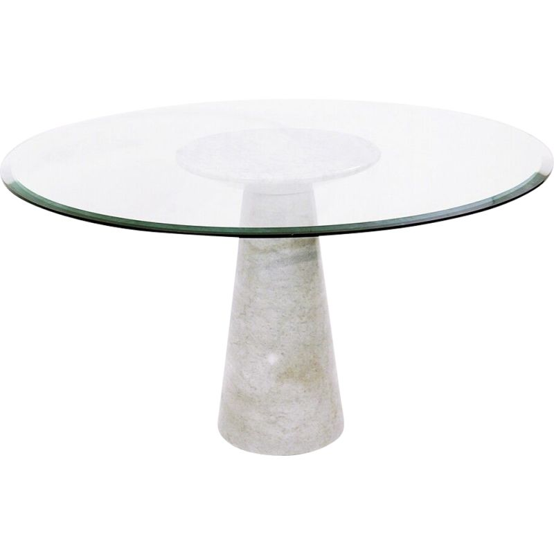 Vintage marble and glass table