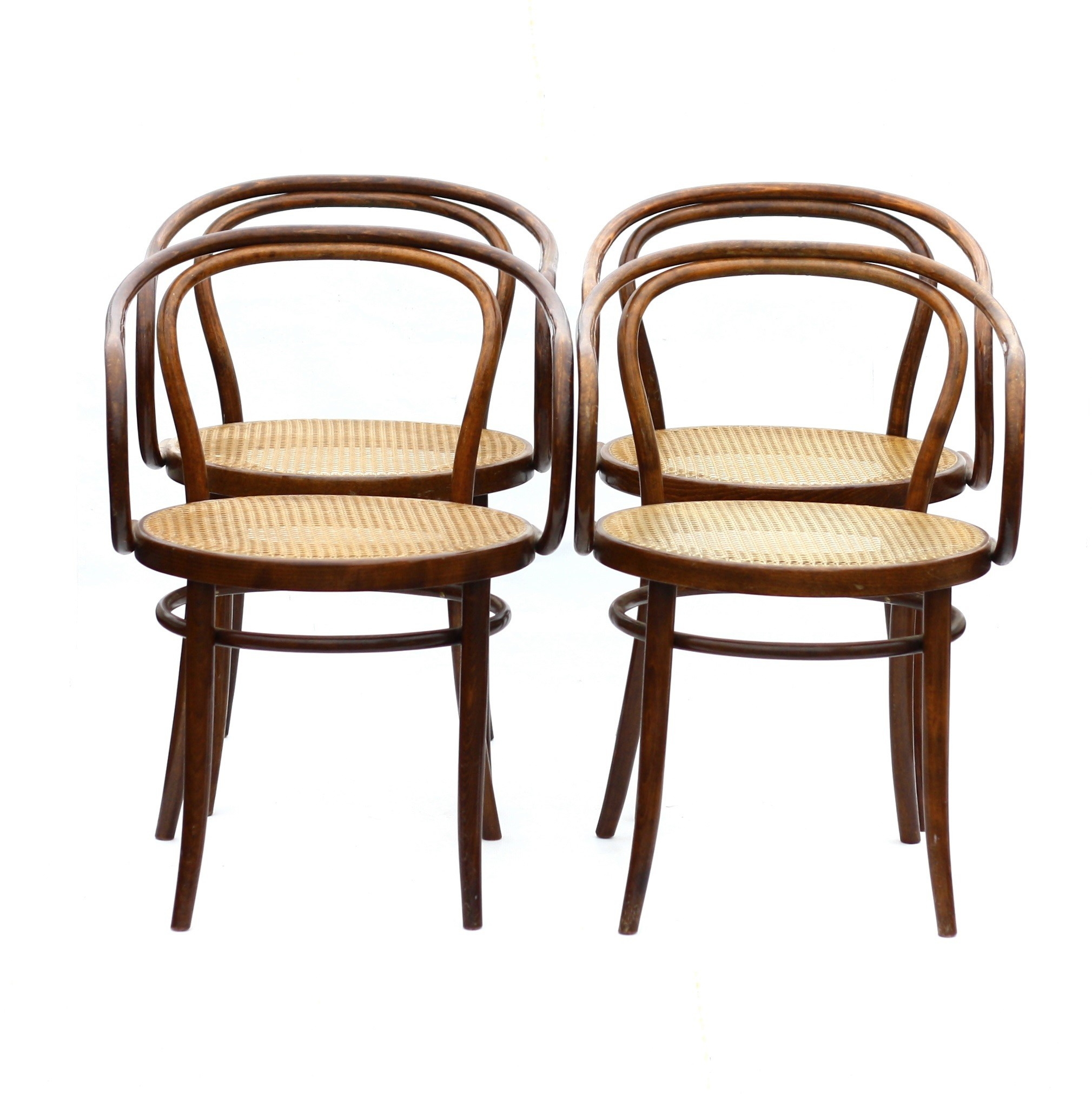Set Of 4 Ton Chairs Auguste Thonet 1970s Design Market