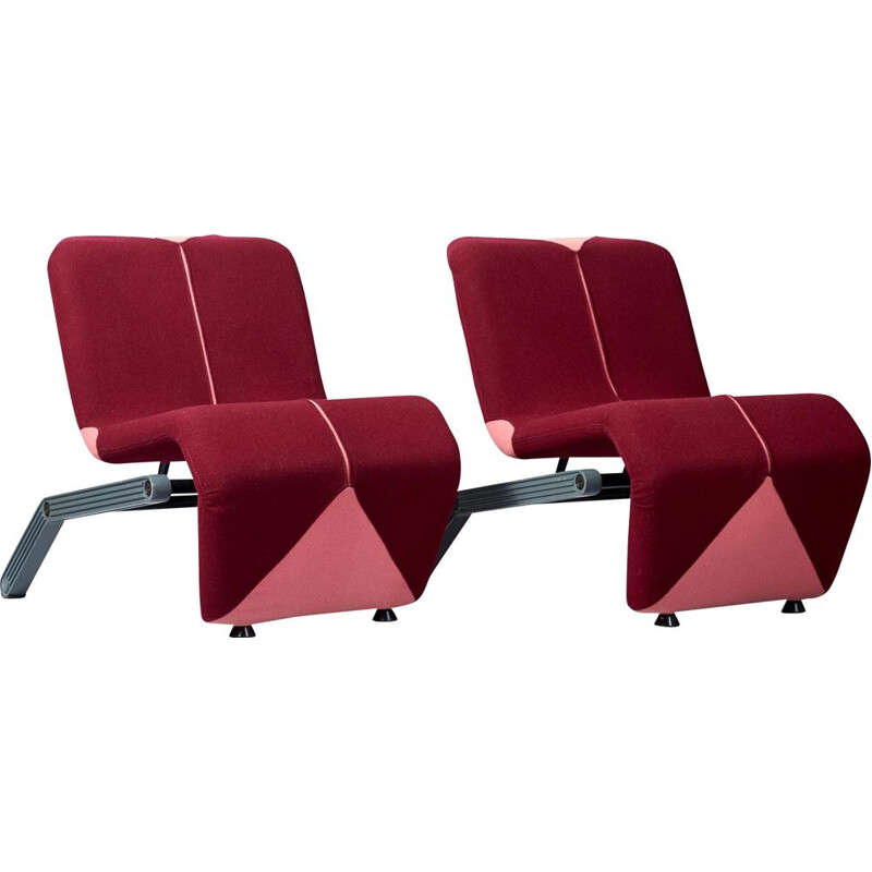 Pair of vintage lounge chairs by Thierry Blet for Artifort, 1980s